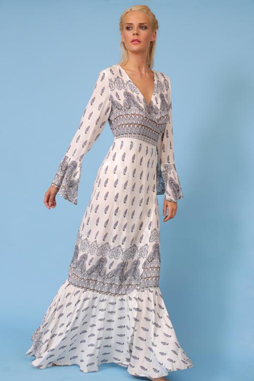 ff2f2fda8d3 Boho Κρουαζέ Φόρεμα Παραλίας (5121)